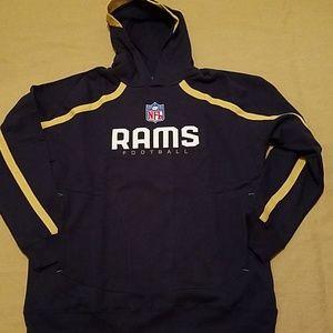 NWOT Rams Football Men's Reebok Sideline hoodie